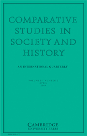 Comparative Studies in Society and History Volume 51 - Issue 2 -