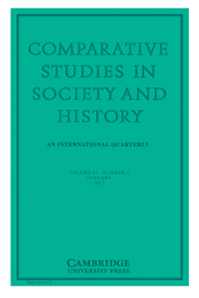 Comparative Studies in Society and History Volume 54 - Issue 1 -