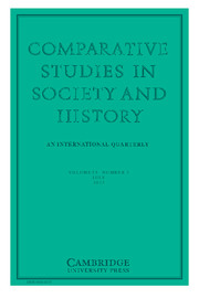 Comparative Studies in Society and History Volume 55 - Issue 3 -