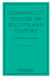 Comparative Studies in Society and History Volume 58 - Issue 3 -