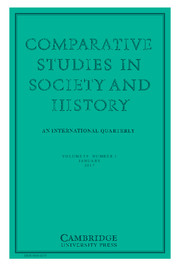 Comparative Studies in Society and History Volume 59 - Issue 1 -