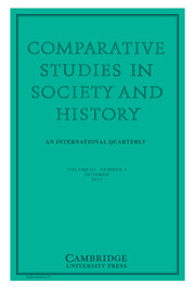 Comparative Studies in Society and History Volume 61 - Issue 4 -