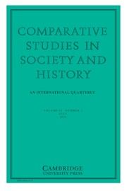 Comparative Studies in Society and History Volume 62 - Issue 3 -