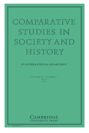Comparative Studies in Society and History Volume 63 - Issue 3 -