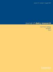 Journal of Dairy Research Volume 74 - Issue 3 -