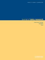 Journal of Dairy Research Volume 74 - Issue 4 -