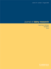Journal of Dairy Research Volume 75 - Issue 3 -
