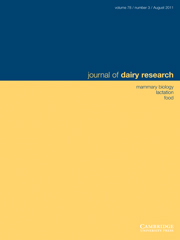 Journal of Dairy Research Volume 78 - Issue 3 -