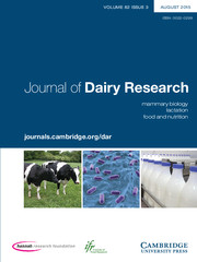 Journal of Dairy Research Volume 82 - Issue 3 -