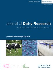 Journal of Dairy Research Volume 83 - Issue 1 -