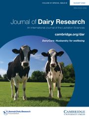 Journal of Dairy Research Volume 87 - Special IssueS1 -  DairyCare: Husbandry for wellbeing