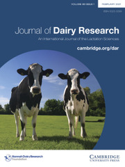 Journal of Dairy Research Volume 88 - Issue 1 -