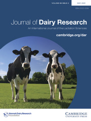 Journal of Dairy Research Volume 88 - Issue 2 -