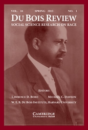 Du Bois Review: Social Science Research on Race Volume 10 - Issue 1 -