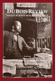 Du Bois Review: Social Science Research on Race Volume 10 - Issue 2 -