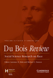 Du Bois Review: Social Science Research on Race Volume 11 - Issue 1 -
