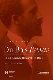 Du Bois Review: Social Science Research on Race Volume 15 - Issue 2 -