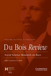 Du Bois Review: Social Science Research on Race Volume 16 - Issue 2 -