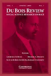 Du Bois Review: Social Science Research on Race Volume 1 - Issue 1 -