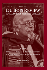 Du Bois Review: Social Science Research on Race Volume 4 - Issue 2 -