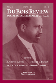 Du Bois Review: Social Science Research on Race Volume 8 - Issue 1 -