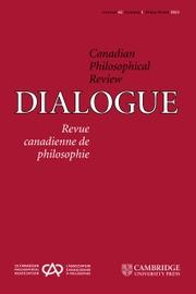 Dialogue: Canadian Philosophical Review / Revue canadienne de philosophie