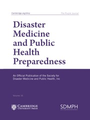 Disaster Medicine and Public Health Preparedness