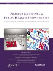 Disaster Medicine and Public Health Preparedness Volume 10 - Issue 5 -