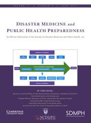 Disaster Medicine and Public Health Preparedness Volume 11 - Issue 3 -