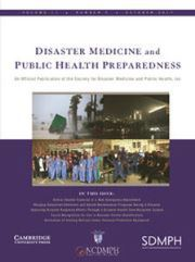 Disaster Medicine and Public Health Preparedness Volume 11 - Issue 5 -