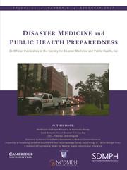 Disaster Medicine and Public Health Preparedness Volume 11 - Issue 6 -
