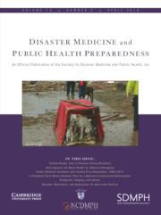 Disaster Medicine and Public Health Preparedness Volume 12 - Issue 2 -