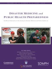 Disaster Medicine and Public Health Preparedness Volume 13 - Issue 3 -