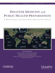 Disaster Medicine and Public Health Preparedness Volume 15 - Issue 2 -