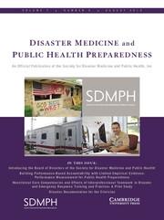 Disaster Medicine and Public Health Preparedness Volume 7 - Issue 4 -