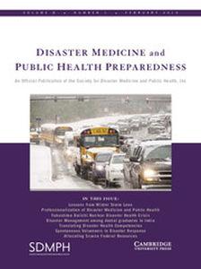 Disaster Medicine and Public Health Preparedness Volume 8 - Issue 1 -