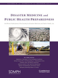 Disaster Medicine and Public Health Preparedness Volume 8 - Issue 5 -