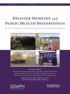 Disaster Medicine and Public Health Preparedness Volume 9 - Issue 1 -