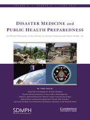 Disaster Medicine and Public Health Preparedness Volume 9 - Issue 3 -