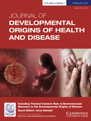 Journal of Developmental Origins of Health and Disease Volume 2 - Issue 1 -