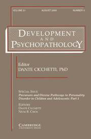 Development and Psychopathology Volume 21 - Issue 3 -  Precursors and Diverse Pathways to Personality Disorder in Children and Adolescents: Part 1