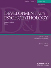 Development and Psychopathology Volume 23 - Issue 3 -  Allostatic Load: Part 1