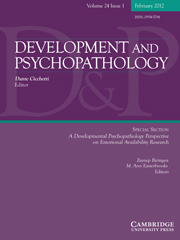 Development and Psychopathology Volume 24 - Issue 1 -