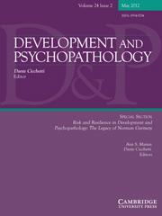 Development and Psychopathology Volume 24 - Issue 2 -