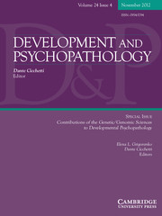 Development and Psychopathology Volume 24 - Issue 4 -  Contributions of the Genetic/Genomic Sciences to Developmental Psychopathology