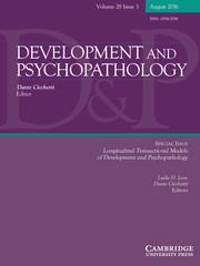 Development and Psychopathology Volume 28 - Special Issue3 -  Longitudinal Transactional Models of Development and Psychopathology