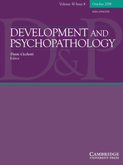 Development and Psychopathology Volume 30 - Issue 4 -