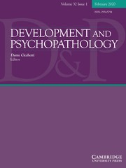 Development and Psychopathology Volume 32 - Issue 1 -