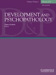 Development and Psychopathology Volume 33 - Issue 1 -