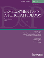 Development and Psychopathology Volume 33 - Special Issue2 -  Honoring the Legacy of Ed Zigler's Lifetime Contributions to Science, Society, and Child Wellbeing